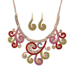 Bohemian Statement Necklaces & Pendants For Women Vintage Beads Collares Mujer Ethnic Necklace With Earring #Affiliate