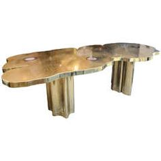 Enzo Missoni Dinning Table in Gilt Brass and Agates | From a unique collection of antique and modern dining room tables at https://www.1stdibs.com/furniture/tables/dining-room-tables/
