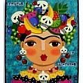 Frida Kahlo Mermaid Angel With Flaming Heart Painting by LuLu Mypinkturtle