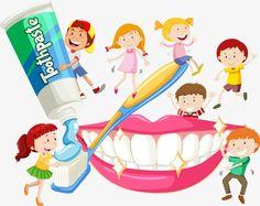 A criança,Escovar OS dentes,Gráfico de vetor