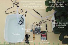 Vandingscomputer til dit drivhus og potteplanter. Fugtighedssensor der måler i jorden og temperaturmåler kan beregne hvornår der skal vandes.  På varme dage er der brug for mere vand end på køligere dage, og derfors kald er vandes efter behov, hvilket computer beregner ud fra en kombination af temperaturdata og jordfugtighedsdata