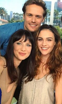 The Fraser's - Caitriona Balfe, Sophie Skelton, and Sam Heughan at the San Diego Comic Con festival - Outlander_Starz Season 3 Voyager - July 21st, 2017