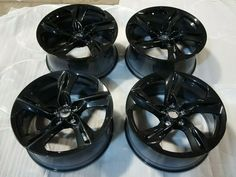New Chevrolet Camaro BLACK Wheels Rims 20x8.5 20x9.5 SET OF 4 STAGGERED · $1,095.00 Black Wheels, Black Rims, Camaro Ss, Chevrolet Camaro, Chevy Camaro