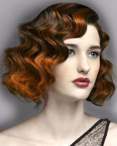 Retro Brown and Copper Waves