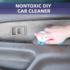 Clean your car's interior with this easy-to-make nontoxic spray!
