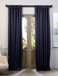 Navy Blue Doublewide Blackout Curtain Boch 193810 108 Dw Doublewideblackoutcurtain