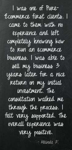 Positive experiences mean positive Pure-Ecommerce Reviews!