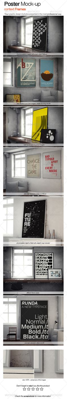 Poster Mock-up Context Frames - Posters Print