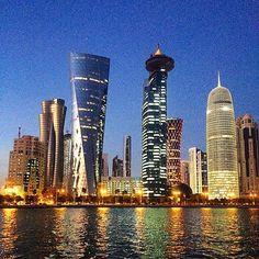 """""""Doha at night #Qatar #doha"""