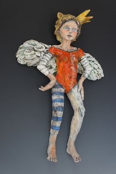Bandita ceramic wall sculpture by ceramic by VictoriaRoseMartin, $425.00