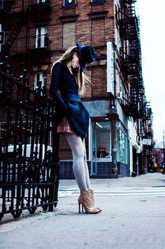 koonhor square-neck long sleeve dress on thewildmagazine