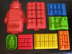 Amazon.com: Make Lego Minifigure and Bricks Silicone Cake PAN Birthday Party Candy Chocolate Molds Set of 8: Kitchen & Dining