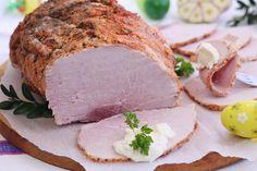 Szynka której nie może zabraknąć na świątecznym stole. Jest bardzo dobra, prosta do zrobienia.Domowa jest o wiele lepsza niż kupna.      ... Meat Sandwich, Good Food, Yummy Food, Meat And Cheese, Polish Recipes, Smoking Meat, Detox Recipes, Breakfast Recipes, Pork