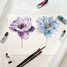 "3,161 Likes, 20 Comments - Наталья Каданцева (@kadantseva_natalia) on Instagram: ""Anemone and poppy"""