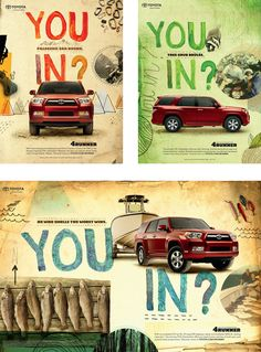 Toyota 4Runner print ads illustration + photos