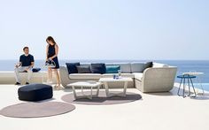 Sorrento All Weather Wicker Sectional Outdoor Sofas & Lounge Chairs