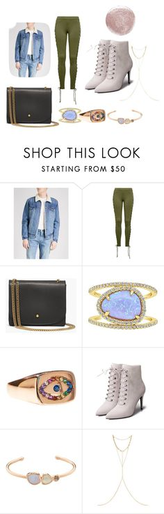 """""""Casual Fur Jean Jacket & Green Pants"""" by thrustables on Polyvore featuring Levi's, Puma, Madewell, Sterling Forever, Sphera, Chan Luu and Christian Louboutin"""