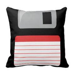 Coussin à disque souple - noir, argent et rouge