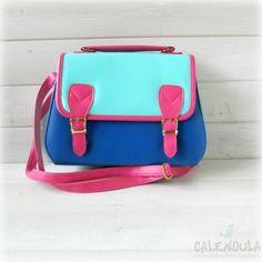 Bolso bandolera azul-rosa - Calendula
