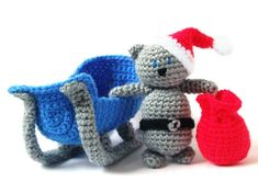 Free English Crochet Patterns Amigurumi | Tommy, the cat, has decided to give a little help to Santa this year ...