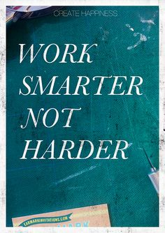Work Smarter Not Harder | Earmark Social