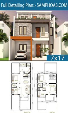 haus design 5 Bedrooms Home Design Plan This villa is modeling by SAM-ARCHITECT With 2 stories level. It's has 4 bedrooms. 4 Bedroom House description: The House has Car Parking Free House Design, 2 Storey House Design, Duplex House Design, Simple House Design, House Front Design, Modern House Design, House Layout Plans, Duplex House Plans, My House Plans