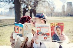 A vintage movie inspired engagement shoot >> http://su.pr/Ak4iAI photography by @JenelleKappe