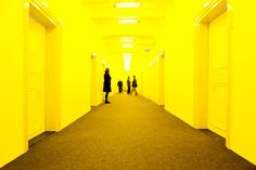 Until 26 January Olafur Eliasson's One Celebration, Eleven Rooms and a Yellow Corridor will be on show at Mönchehaus Museum in Goslar, Germany. Orange Architecture, School Architecture, Interior Architecture, Studio Olafur Eliasson, Orange Interior, Learning Spaces, Mellow Yellow, Colorful Interiors, Interior Inspiration