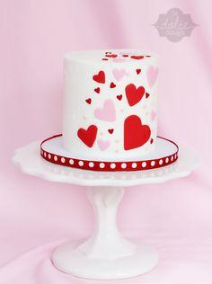 "Happy Valentines 4"" cake. La Dolce Dough, Sylvania Ohio"
