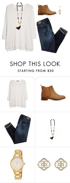 """lunch downtown"" by apocketfulofprep ❤ liked on Polyvore featuring MANGO, ASOS, American Eagle Outfitters, Kate Spade and Kendra Scott"