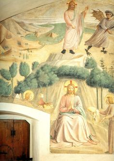 BEATO ANGELICO - Tentazioni di Cristo - affresco - ca. 1442 - cella n. 32 - Convento-Museo N. di San Marco, Firenze