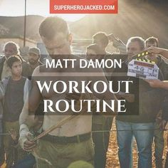 BONUS: Matt Damon got into the best shape of his life at 45 years old! This man … BONUS: Matt Damon got into the best shape of his life at 45 years old! This man is impressive. But, hey, we've… Continue Reading → Hero Workouts, Gym Workouts For Men, Workout Routine For Men, Lower Ab Workouts, Fitness Workouts, Mma Workout, Boxing Workout, Workout Plans, You Fitness