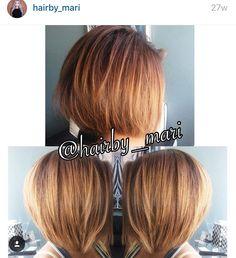Balayage Aline bob  by hairby_mari