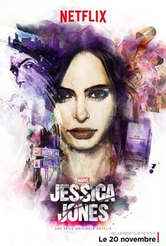 jessica jones poster netflix découverte d'une bonne série!!