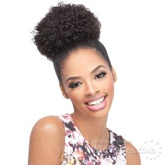 Outre Timeless Premium Multi Blend Afro Puff Ponytail - Afro Small Self styled in 60 seconds. Style color shown: 2 Dark Brown Haircut Styles For Women, Short Haircut Styles, Best Short Haircuts, Best Hair Growth Oil, Afro Ponytail, Curly Hair Styles, Natural Hair Styles, Natural Beauty, Drawstring Ponytail