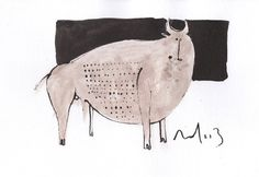 Taurus No. 7  Sumi Ink on Paper by mellonfineart on Etsy, $50.00