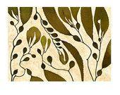 Seaweed Botanical Print --Kelp Forest 2 Art Print collage