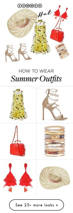 """Collection Of Summer Styles    """"Hats make the outfit"""" by jeniferkcarsrud on Polyvore featuring Erdem, Eugenia Kim, Chanel, Ashley Pittman, Oscar de la Renta, Stuart Weitzman and summerhat    - #Outfits  https://fashioninspire.net/fashion/outfits/summer-outfits-hats-make-the-outfit-by-jeniferkcarsrud-on-polyvore-featuring-erdem-eugenia-k/"""