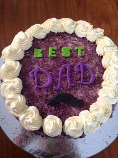 Ube cake with macapuno for fathers day.