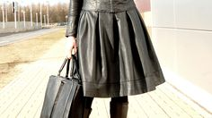 leather skirt http://wonderlandbyalicja.blogspot.com/
