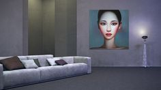 Zhang Xiang Ming, 'Beijing Girl' oil on canvas, collection Galerie Kunstbroeders