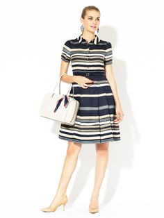 Jeanette Pleated Shirt Dress by kate spade new york