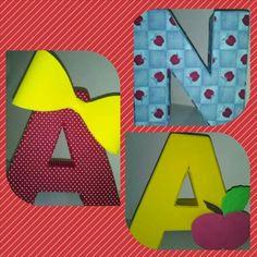 Letras 3D tema BRANCA DE NEVE
