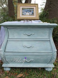 Hand Painted French Provincial Bombé