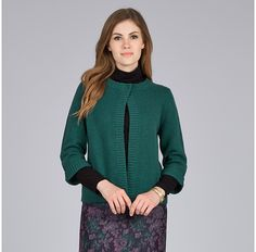 Womens bottle green cardigan from Laura Ashley - £41.25 at ClothingByColour.com