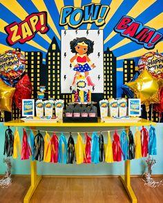 Wonder Woman Superhero Birthday Party on Kara's Party Ideas | KarasPartyIdeas.com (36)