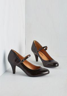 Talk of the Office Heel in Noir, #ModCloth