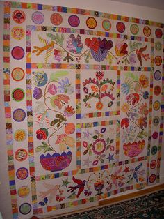 Flower Pots quilt top | I've been blogging about this advent… | Flickr