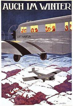 Lufthansa ~ Even in Winter, by Hans Vogel