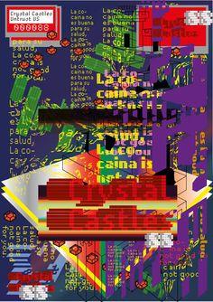 Joonghyun Cho, Crytral Castle Poster on Behance Aesthetic Themes, Aesthetic Design, Magazine Layout Design, Glitch Art, Communication Design, Album Design, Layout Inspiration, Editorial Design, Textile Design